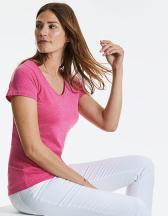 HD Damen T-Shirt mit V-Ausschnitt